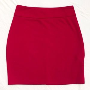Tobi Basic Red Bodycon Mini Skirt